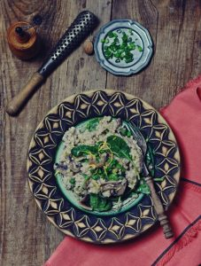 zielenina_risotto z pieczarkami i szpinakiem1