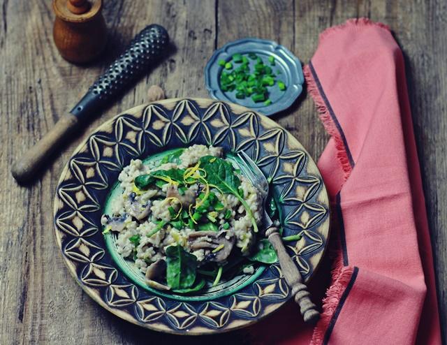 zielenina_risotto z pieczarkami i szpinakiem2