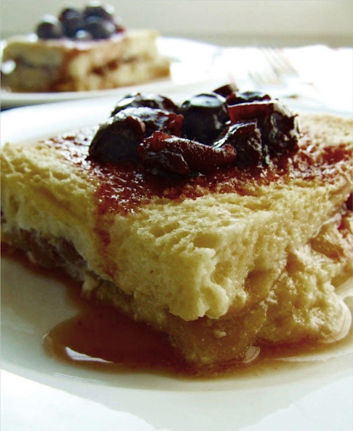 Śniadaniowy pudding chlebowy