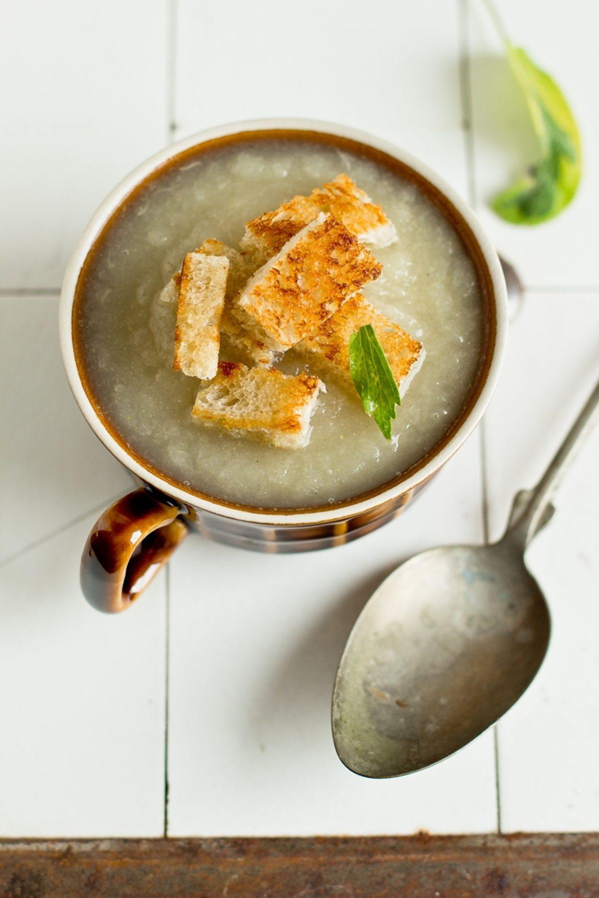 Zupa z białej rzepy i zaproszenie do drugiego numeru magazynu Maszkety! :)