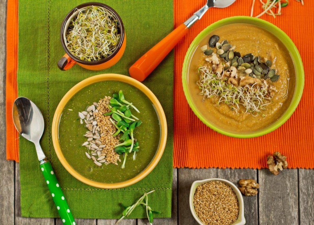 Kolorowe zupy-kremy z pysznych składników od Free Delikatesy Ekologiczne! :)