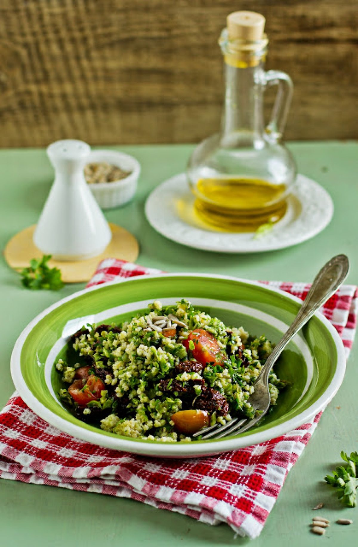 Sałatka z kaszy jaglanej i zielonych szparagów – Zielenina z Vitamixa! :)