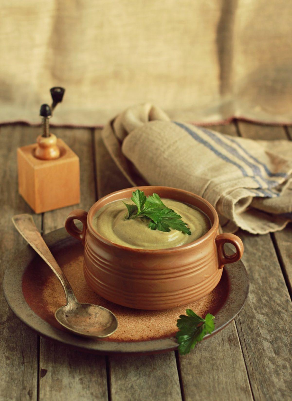 Krem pieczarkowy z wędzonym tofu