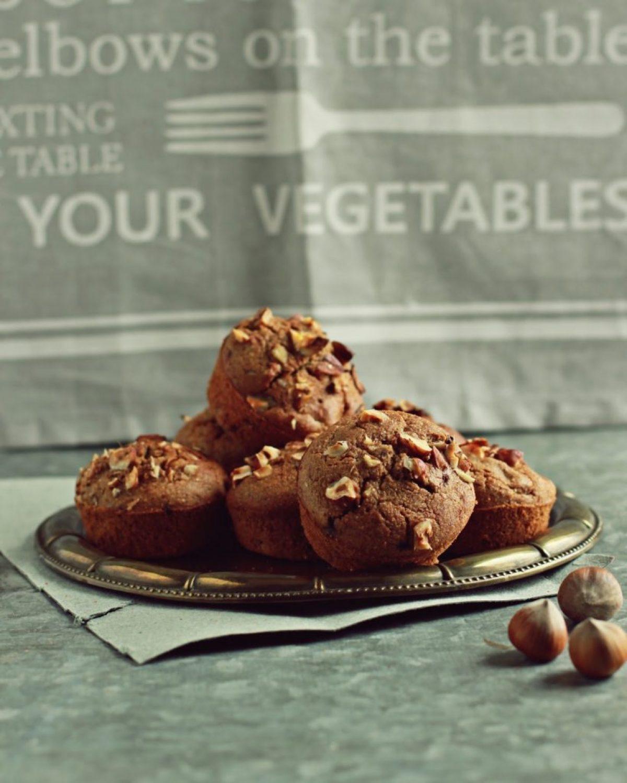 Muffinki z gruszkami i czekoladą oraz mąką z sorgo (bezglutenowe)