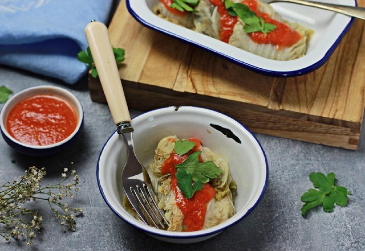 Gołąbki z kapusty pekińskiej – wegańskie i bezglutenowe